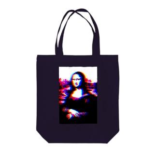 Graphical Monna Lisa Tote bags