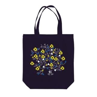 フラワーブック(黄色) Tote bags