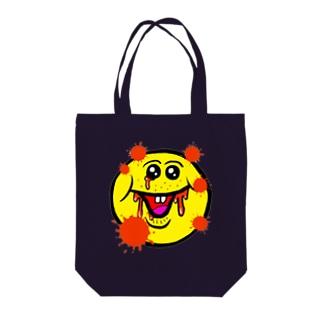 笑い太郎(血みどろ) Tote bags