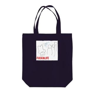 ファッキン4 Tote bags