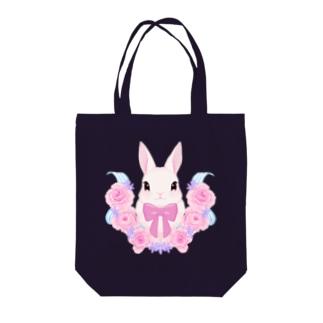 うさぎ:春の訪れ Tote bags