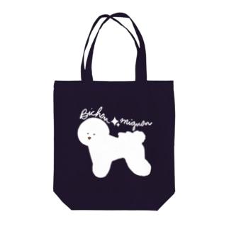 Bichon☆mignon Tote bags