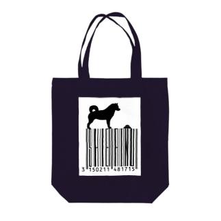 シバーコード Tote bags