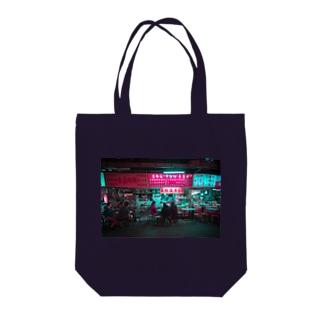 台湾夜景 Tote bags