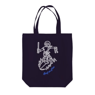 Surf(WH/BL) Tote bags