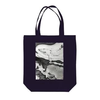 夢を運ぶクジラ Tote bags