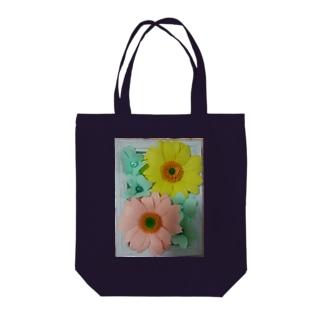 ペーパーフラワー(ガーベラ) Tote bags