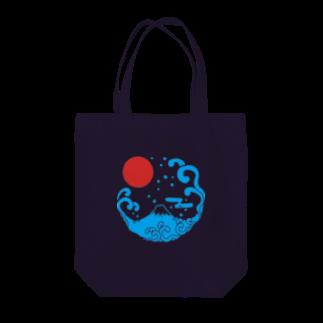 ジャパニーズスタンダードの富士山・波 Tote bags
