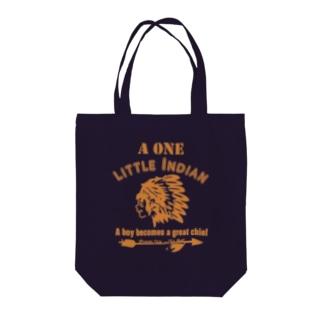 ワンリトルインディアン(イエロー) Tote bags