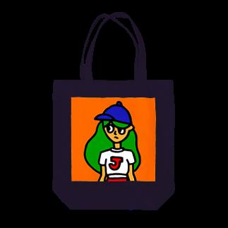 FUKUFUKU=:DESIGNのじょし Tote bags