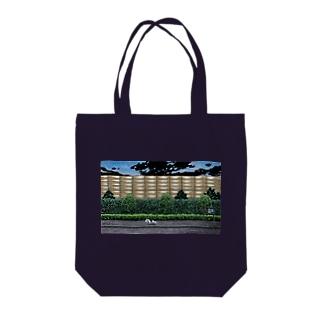 ハナシタナガネコの夜散歩  Tote bags