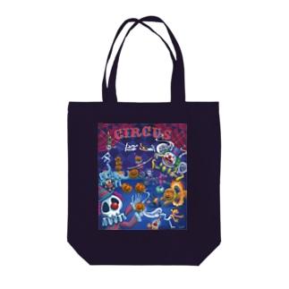 ハロウィンサーカス Tote bags