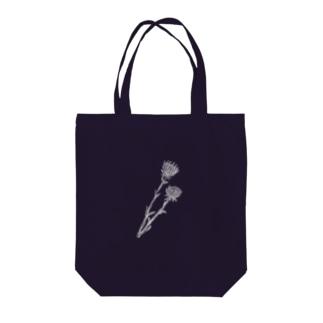 アザミ(white) Tote bags