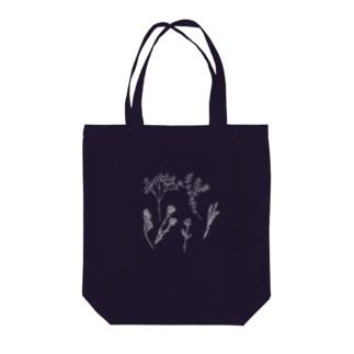 ドライフラワー(white) Tote bags
