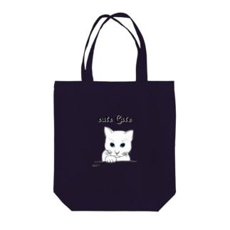 女白猫 Tote bags