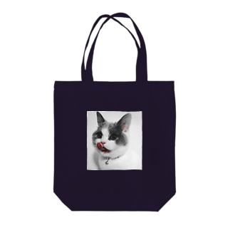 monochrome peroCAT Tote bags