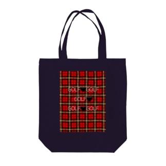 ゴルフチェック Tote bags