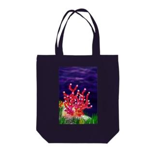 サンゴ Tote bags