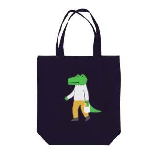 お買い物ワニくん Tote bags