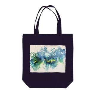 ブルーFluidFlowers2 Tote Bag