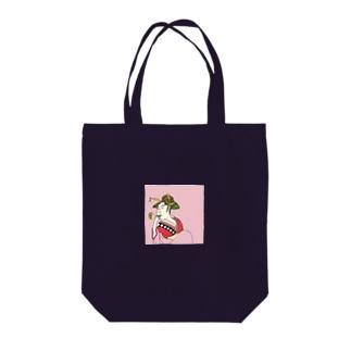 Mrs. Earth 『おピンはん』 Tote bags