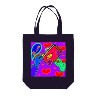 おさいふちゃんの恋愛事情 Tote bags