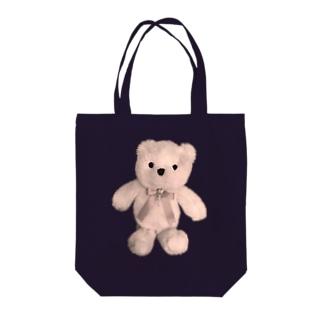 Dreamy Teddy Sepia Tote bags
