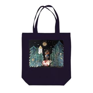 岬森のウサギ Tote bags