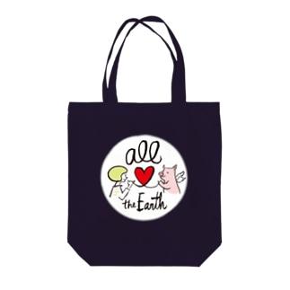 オール世界/ブタさん Tote bags