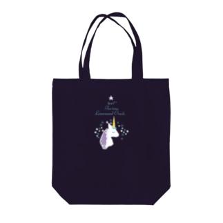 ティータイムユニコーン Tote bags