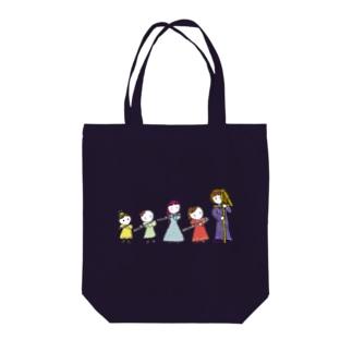 フルートファミリーwithアフロ女子 Tote bags