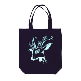 鹿(色反転) Tote bags