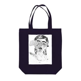 Manami Satohの片目のおんな Tote bags