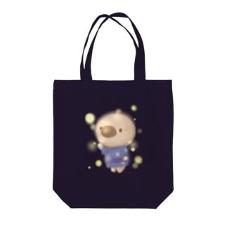 雫桜だんごの雑貨屋さんのホタルと ちょろ Tote bags