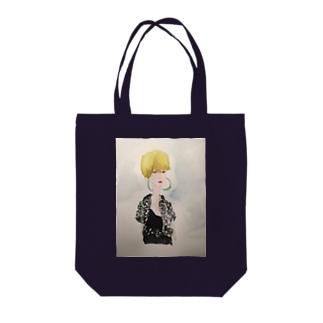 ギンガムの娘 Tote bags