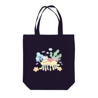 クラゲオムライスにのって Tote bags