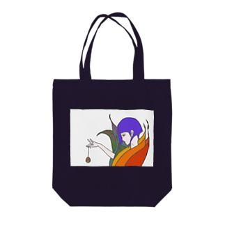 定番トート【極楽鳥花姫】 Tote bags