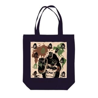 ゴリゴリの迷彩柄 Tote bags