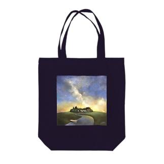 ミルキーウェイ Tote bags