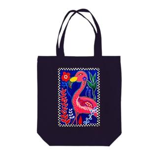 フラミンゴ デザイン Tote bags