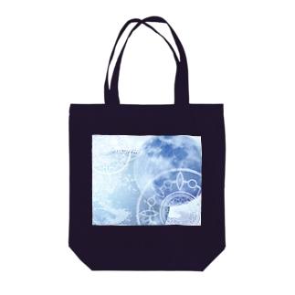 目覚める月 地球バージョン Tote bags