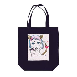 コスプレ少女 Tote bags