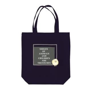 ポメラニアン×SLOGAN Tote bags
