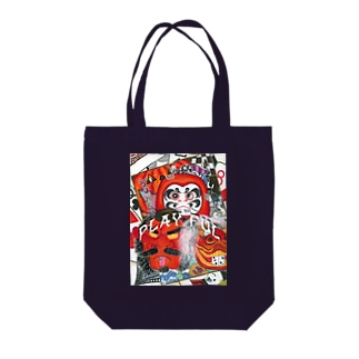 PLAY FUL【全面+ロゴ】 Tote bags