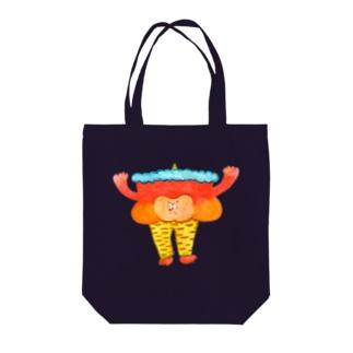 虎柄レギンスの鬼 Tote bags