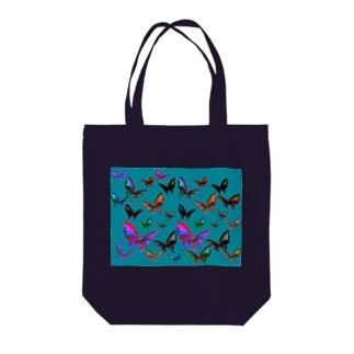 蝶多羽 Tote bags