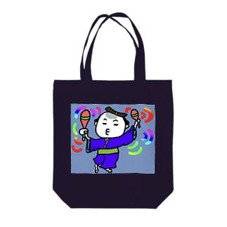 サムライちゃん★ユルユルダスシング! Tote bags