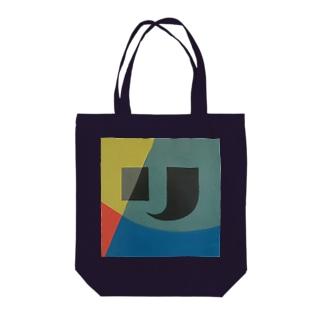 レターオールソーツのKaleidoscope 万華鏡 Katakana series リ Tote bags
