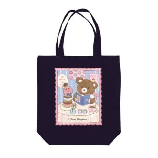 meet/bear Tote bags