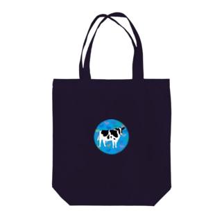 牛さんモーモー Tote bags